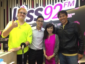 Hanging out with KISS92's Maddy, Jason and Arnold!