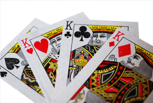 Playing cards kings