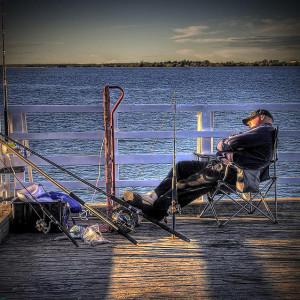 sleeping fishing