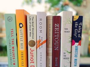 Books in stack