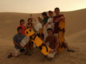 Dune surfing in Peru!