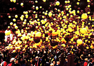 graduate crowd