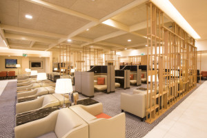 SIA's biz class lounge in London Heathrow