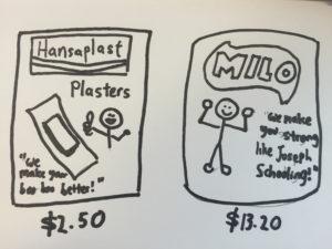 plaster and milo
